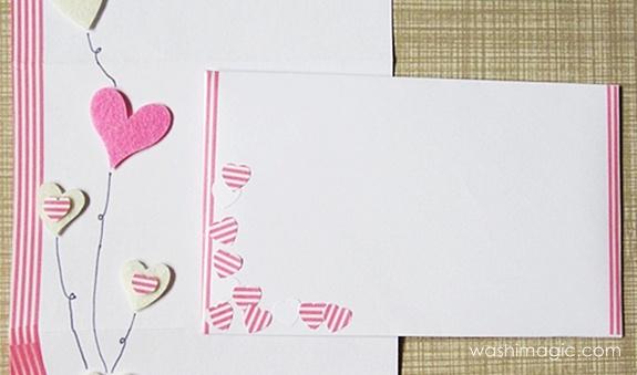 Pink washi tape envelope