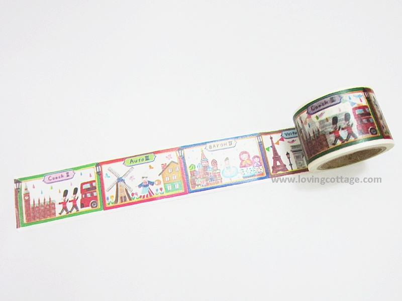 World landscape washi tape from Aimez le style Japanese washi tape