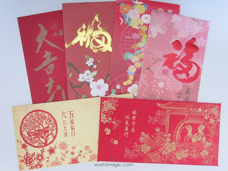 Different types of red envelopes