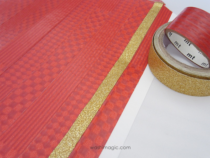 Beautiful texture on mt limited edition red masking tape