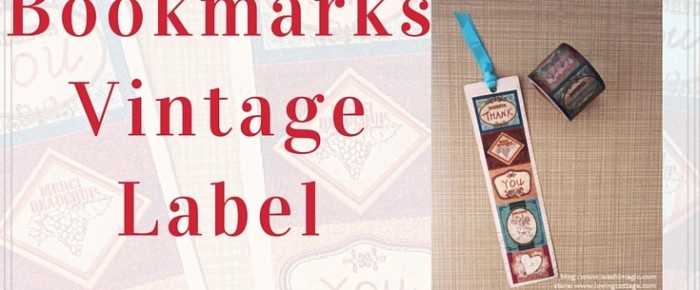 Easy Washi Tape Bookmarks Vintage Label: Try Different Paper/Cardstock