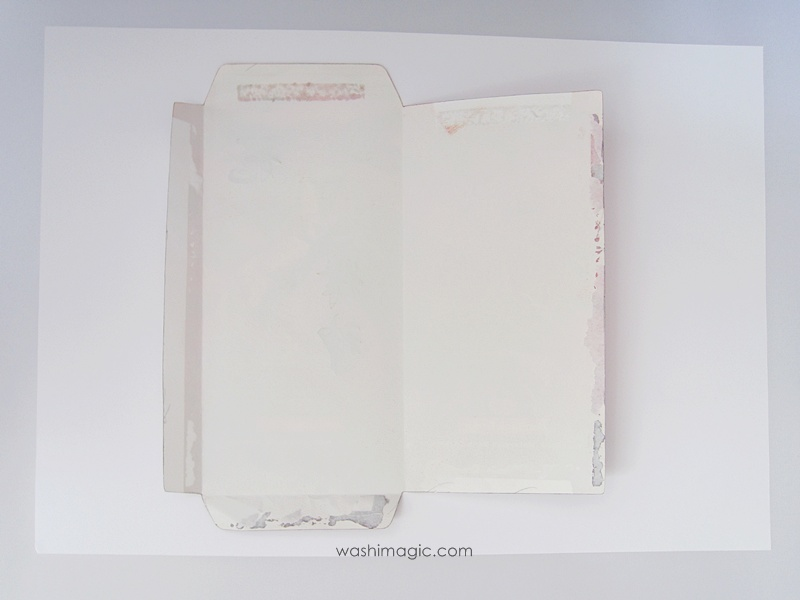 Use red envelope as the template on white paper