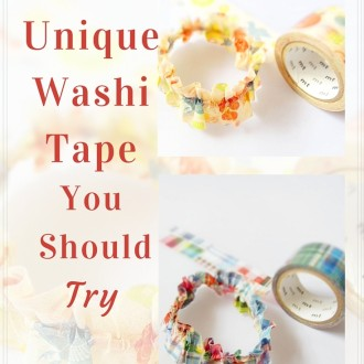 2 More Unique Washi Tape You Should Try