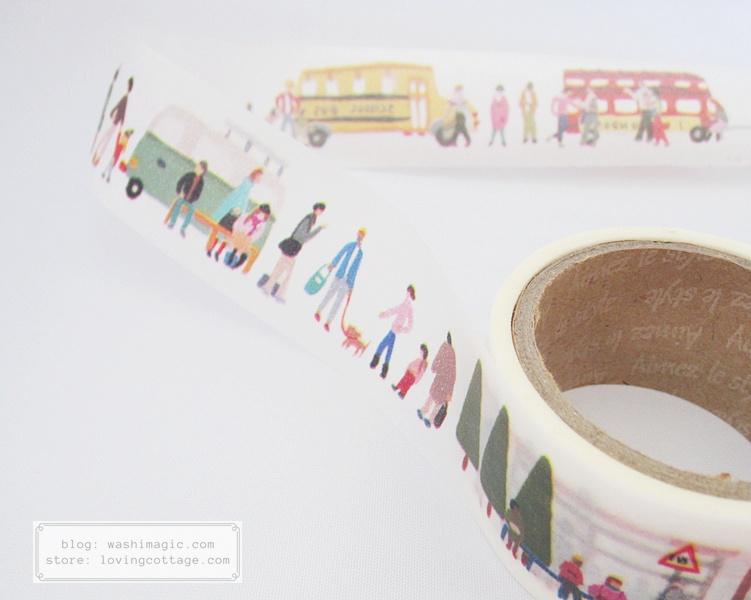Aimez le style bus stops Japanese washi tape | Washimagic.com