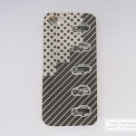 Use black stripe and vintage car masking tape to decorate plain phone case