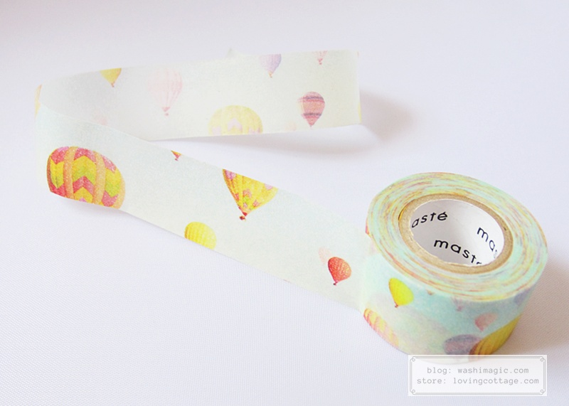 maste hot air balloon washi masking tape | Washimagic.com