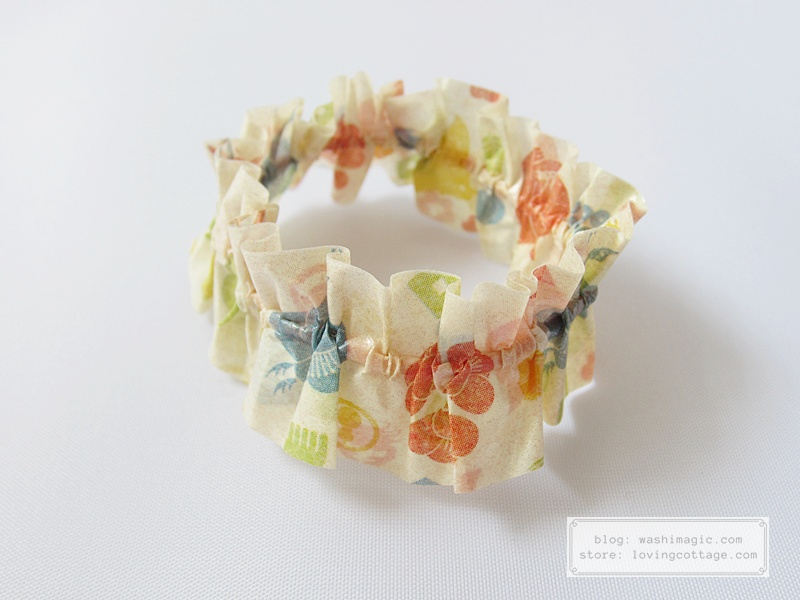 Use mt ex kamon washi tape to make a decorative rubber band | Washimagic.com