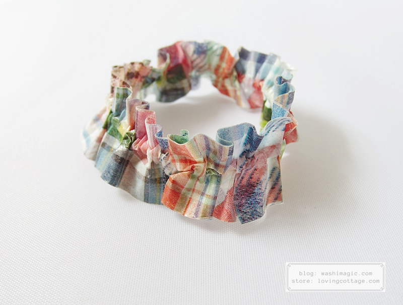 Decorative rubber band using mt ex patchwork masking tape | Washimagic.com