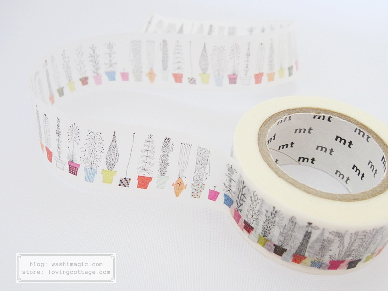 Italian flowers mt masking tape | Washimagic.com