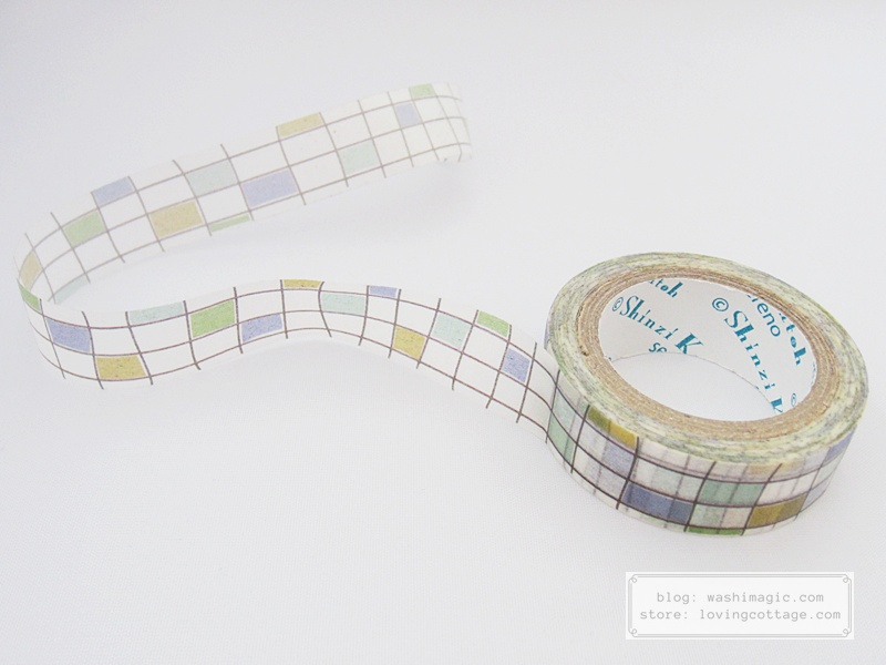 Shinzi Katoh Squarely masking tape | WashiMagic.com