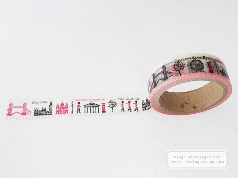 Aimez le style London washi adhesive tape | Washimagic.com