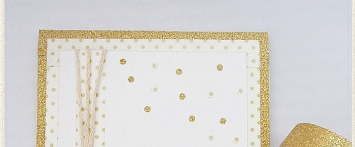 Gold Washi Tape Birthday Card
