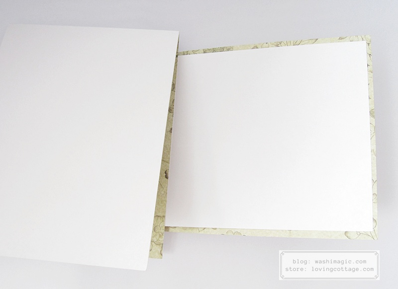 No white cardstock? Use the other side of the cardstock instead | Washimagic.com