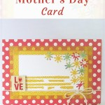Washi tape Mother's Day Card | Washimagic.com