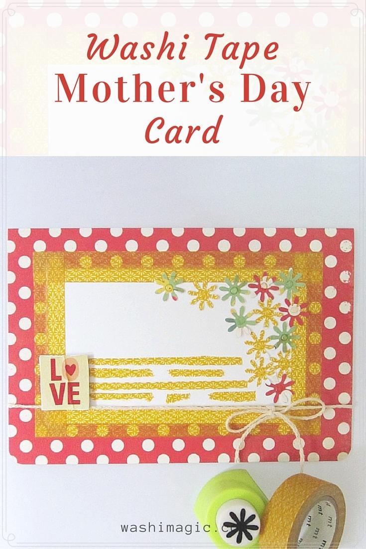 Washi tape Mother's Day Card | Washimagic.com