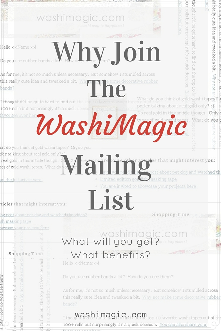 Why join the washimagic mailing list | Washimagic.com