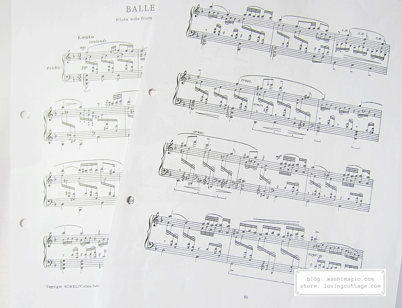 Start combining 2 pages of music sheets together using cute washi tapes | Washimagic.com