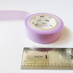Purple horizontal lines mt washi tape