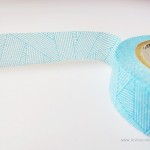 Crisscross pattern blue masking tape | Washimagic.com