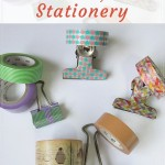 Use washi tape to personalize and beautify ordinary stationery