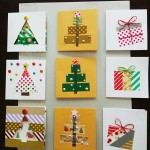 Use masking tapes to make various Christmas cards