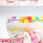 Use washi tape to upgrade your hair clip from dull to beautiful pink