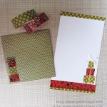 Christmas themed envelop letter set