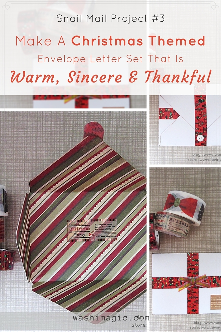 Snail Mail Project #3: Christmas Themed Envelope Letter Set
