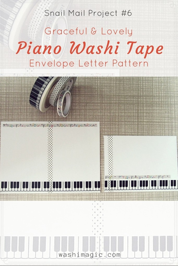 Snail Mail Project #6: Piano Washi Tape Envelope Letter Pattern