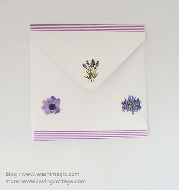 Purple floral envelope | DIY snail mail ideas