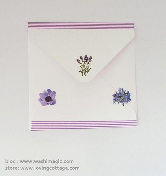 Purple floral envelope | DIY snail mail ideas