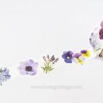 Beautiful floral deco tape in violet | Washimagic.com
