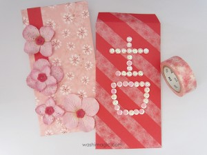 Use pretty deco tapes to personalize red envelopes