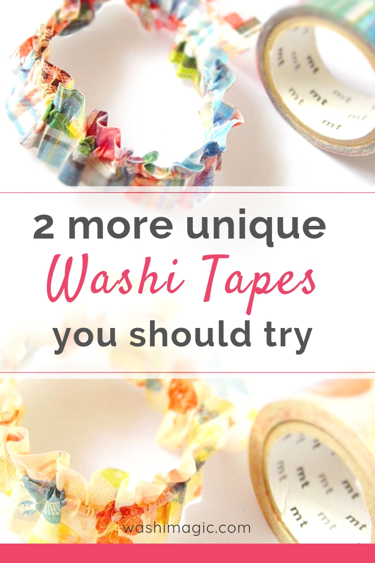 2 more unique washi tapes you should try | mt masking tape | easy diy crafts | DIY washi tape scrunchie | Washimagic.com