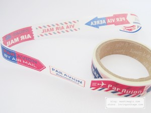Aimez le style airmail label Japanese washi tape | Washimagic.com