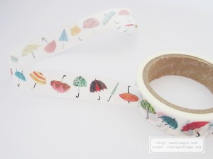 Aimez le style umbrella washi adhesive tape | Washimagic.com