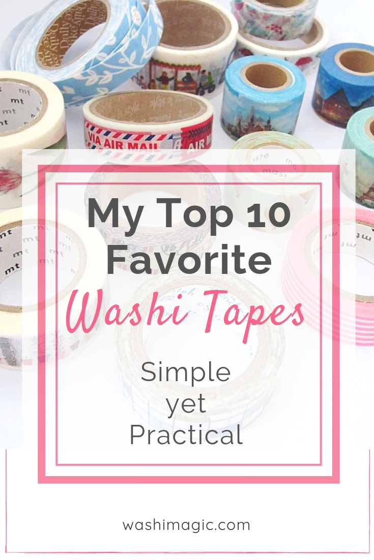 My top 10 favorite washi tapes are simple to use and practical | Washimagic.com