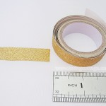 Glitter tape gold | Washimagic.com