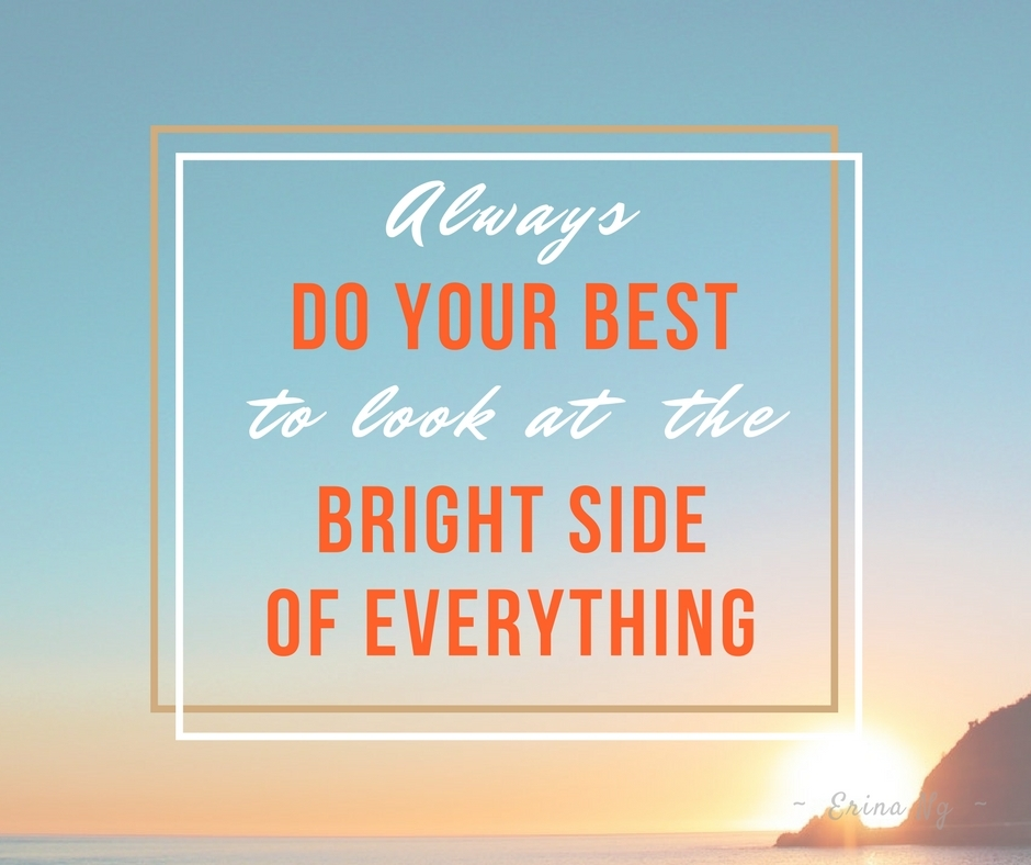 Encouraging words - look at the bright side of everything | Washimagic.com