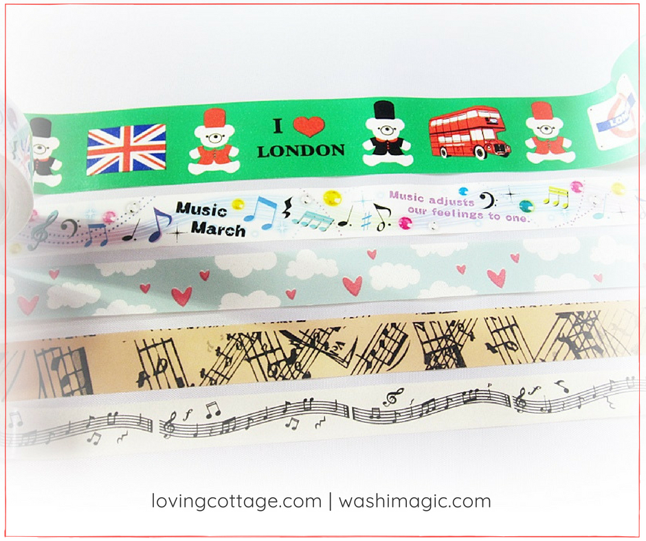 First lot of assorted washi tapes, masking tapes, decorative tapes | Washimagic.com