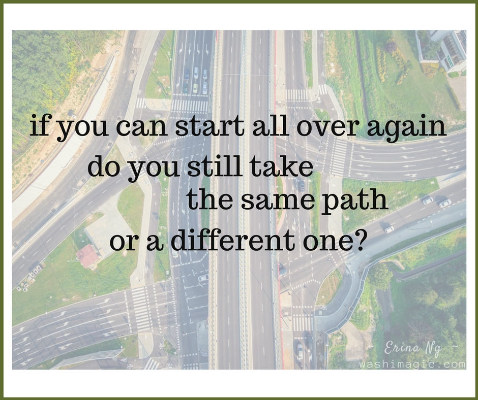 Encouraging words series, inspirational quotes - Do you take the same path in life or a different one? | Washimagic.com