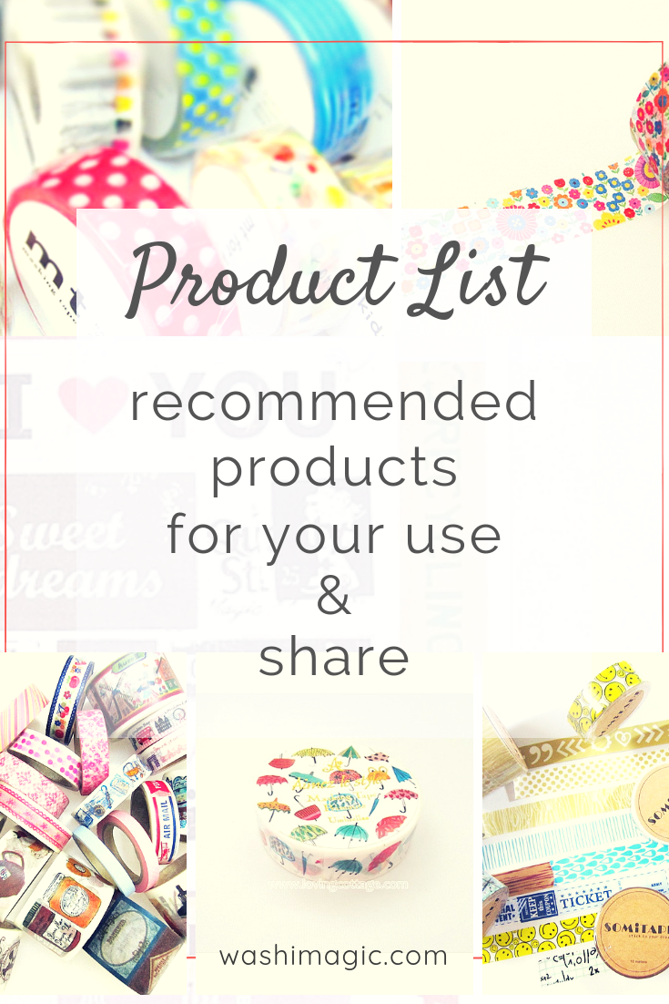 Product list - recommended products for your use and share where you can purchase from affiliate partners | Washimagic.com