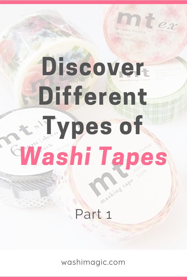 Discover different types of washi tapes part 1 | decorative masking tape | deco tape | cute tape | Washimagic.com