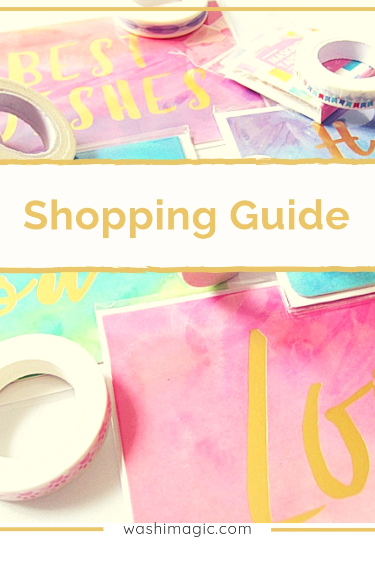 Updated shopping guide on Washi Magic blog | where to buy the products | washi tape | unique stationery | Lovingcottage.com store | Washimagic.com