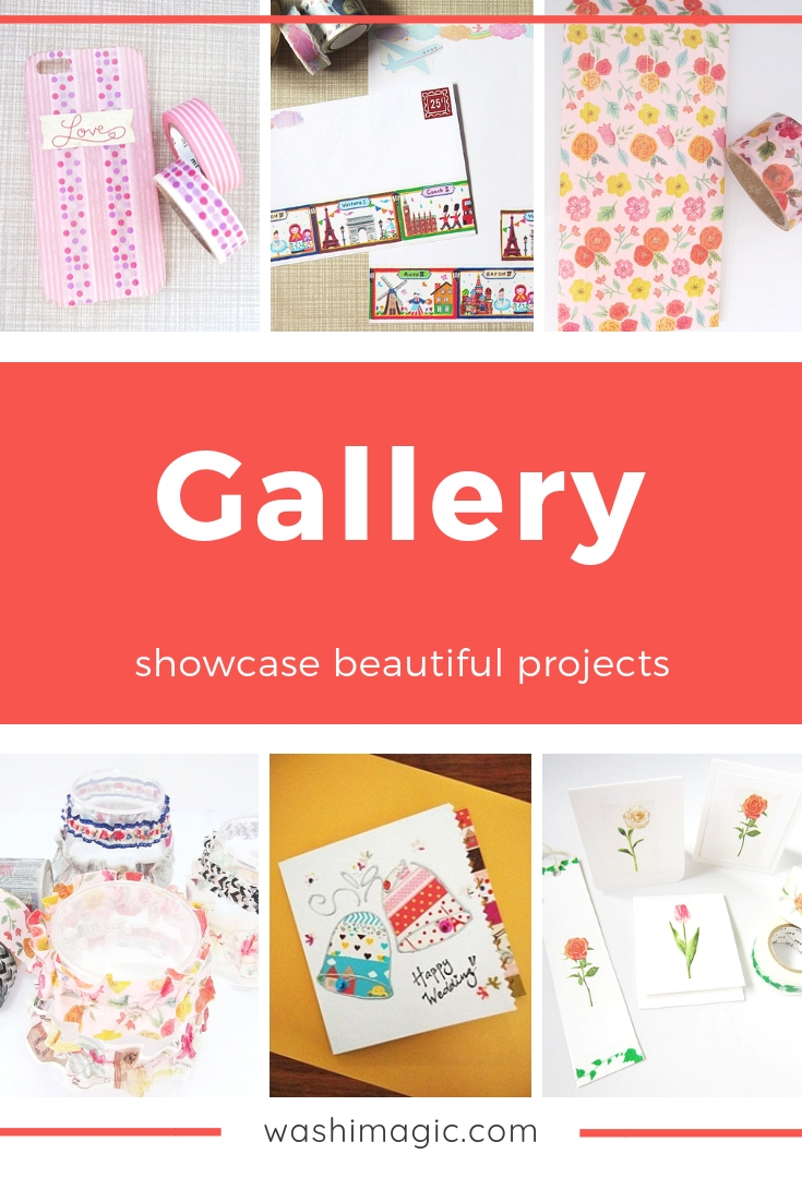 Washi magic gallery showcasing beautiful and unique projects | arts and crafts | deco tape | Washimagic.com