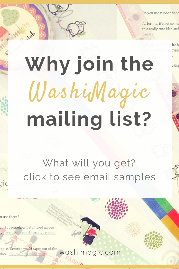 Why join the washimagic mailing list, what will you get, what benefits, click to see email samples | subscribe newsletter | Washimagic.com