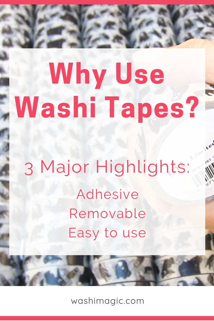 Why use washi tapes? 3 major highlights: adhesive, removable, easy to use | Washimagic.com