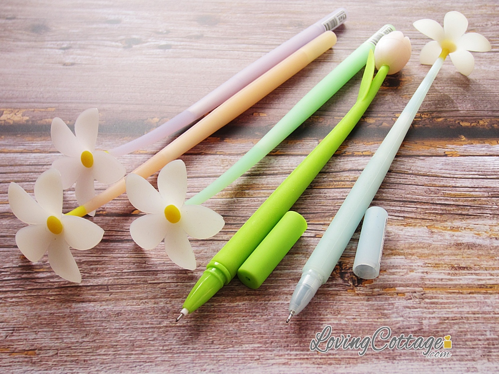 Color changing pens | Flower pens | Floral pens | Stationery gifts available at Lovingcottage Shopee