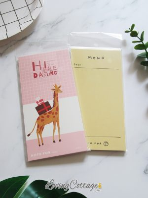 Dear Giraffe Pink Notepad | To Do List Notepad (non-sticky) | Yellow Memo Notepad | To Do List Notepad (non-sticky) | Memo pad | Washimagic.com blog | Lovingcottage.com store