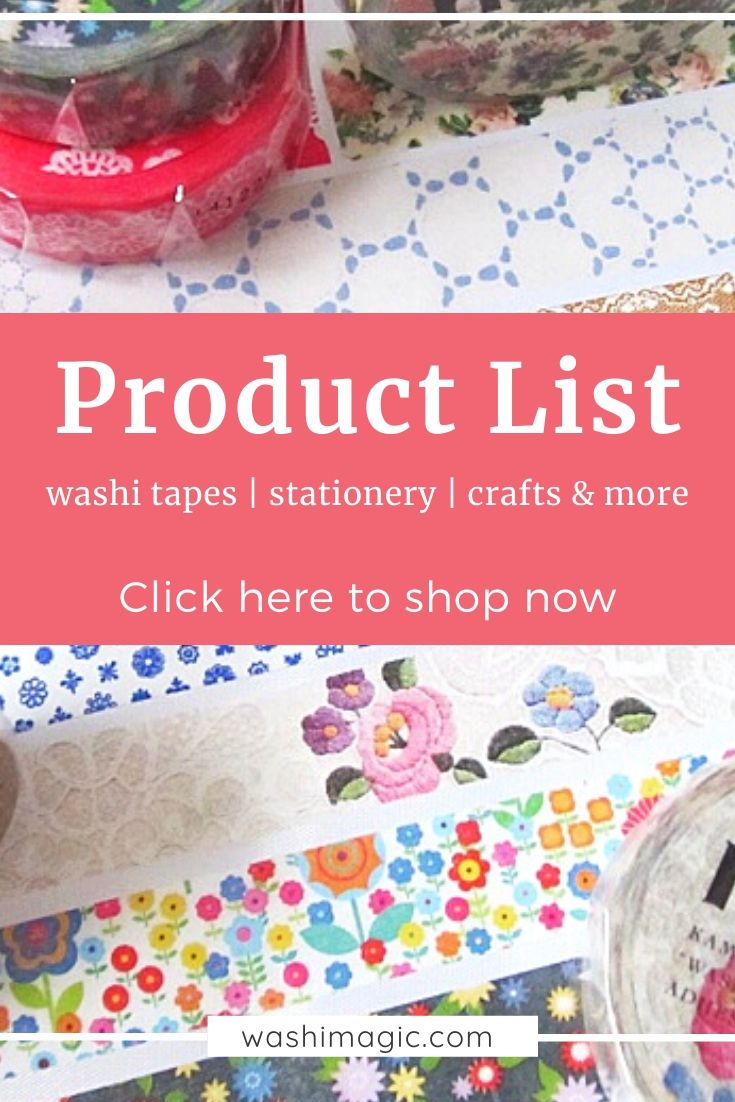 Shop for suggested product list such as washi tapes, stationery, crafts & more where you can get from affiliate partners | Washimagic.com
